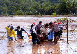 Оползни на острове Сулавеси