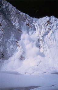 Сход лавин в районе Эвереста