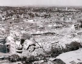 Панорама части пострадавшего района.