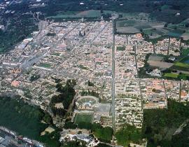 Вид с высоты птичьего полета на Помпеи