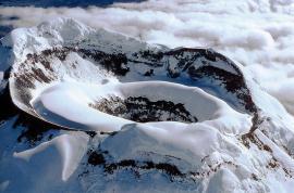 Вид на кратер Котопахи